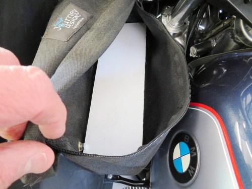 Foam Board Installed In Bottom Of Bag