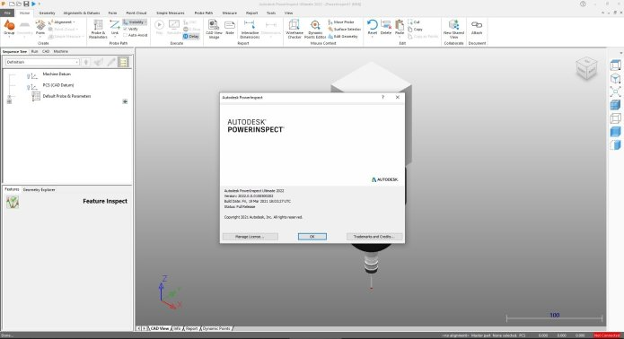 Working with Autodesk PowerInspect Ultimate full license