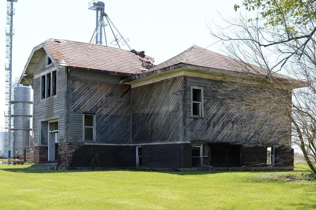 Abandoned, dilapidated schoolhouse