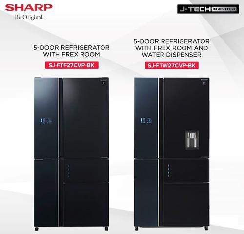 Sharp-5-Door-Refrigerator-with-Flex-Room-and-water-dispenser