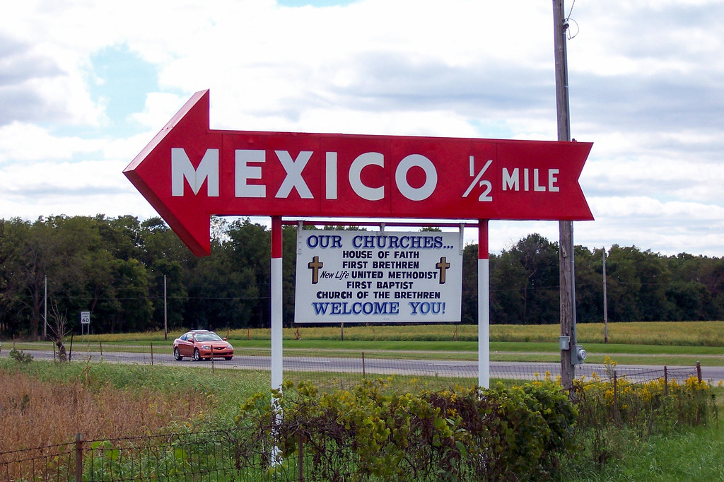 Sign to Mexico, Indiana