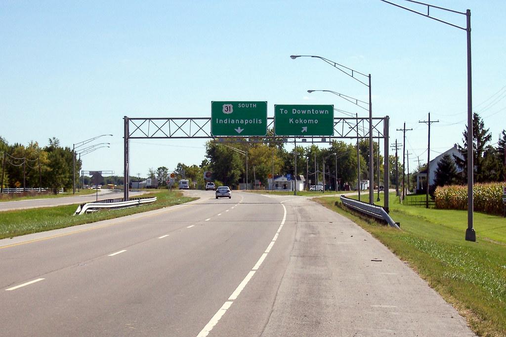 The famous Kokomo split - US 31 in Indiana