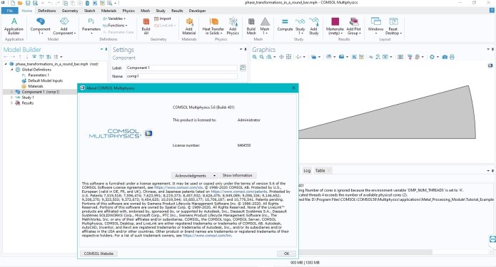 Working with Comsol Multiphysics 5.6.0.401 full