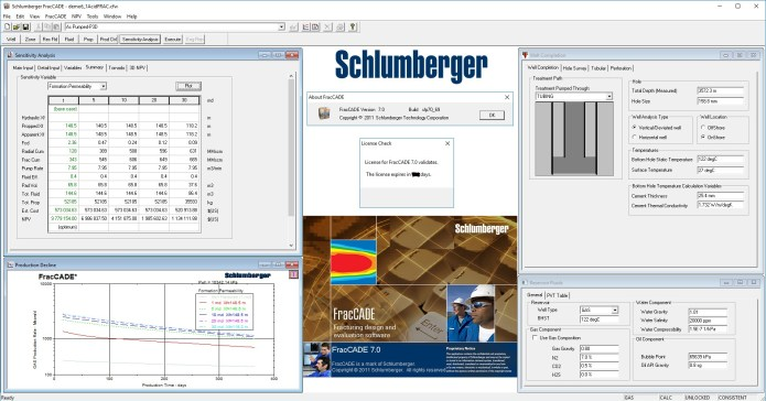 Working with Schlumberger FracCADE v7.0 full license