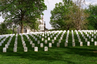 Military cemetery at Crown Hill