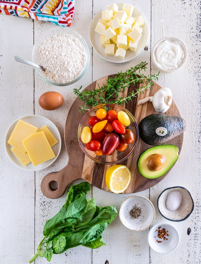 a spread of summertime ingredients