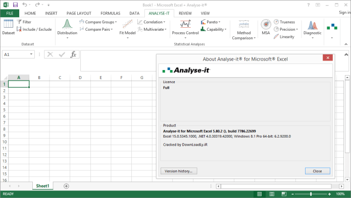 Working with Analyze-it 8.80.2 Ultimate Edition