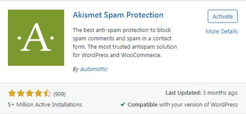 Akismet spam