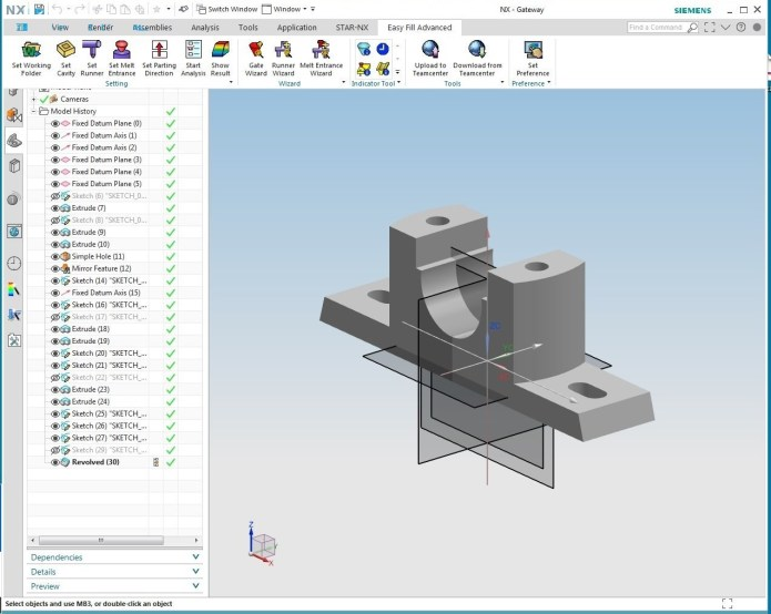 Working with Mold Wizard Easy Fill Advanced v5_20201028 for NX 1926 Series Win64 full