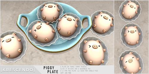 [Kres] Piggy Plate