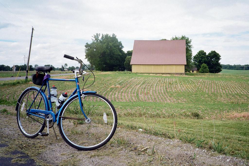 Bike by the barn
