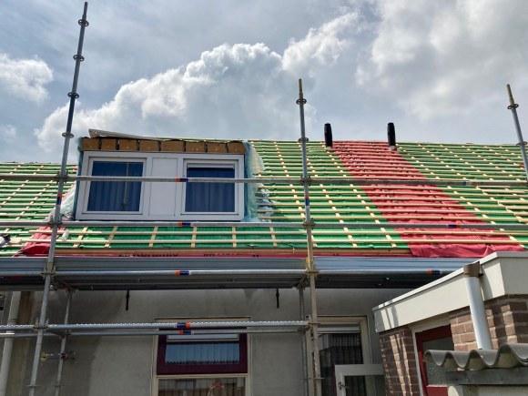 Roof still exposed