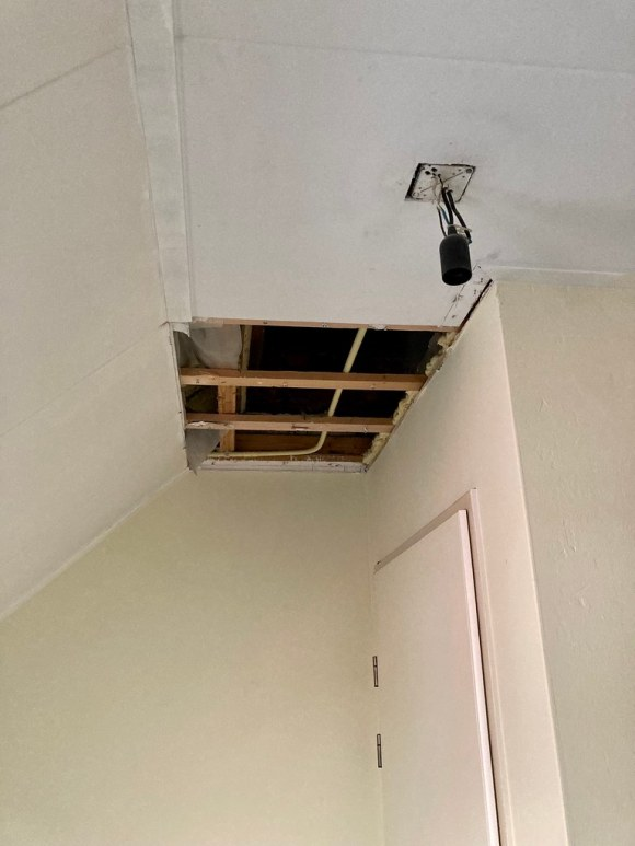Hole in my ceiling!