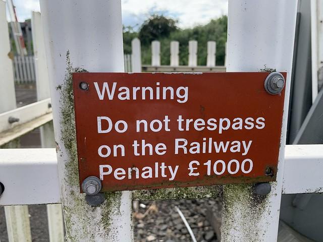 Warning, Do Not Tresspass on the railway