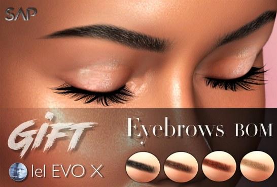 ღ Sap ~ Eyebrows GIFT (Lelutka EvoX & Genus Project) BoM