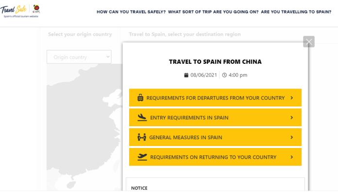 西班牙国家旅游局官网推出前往西班牙的最新旅行安全指引