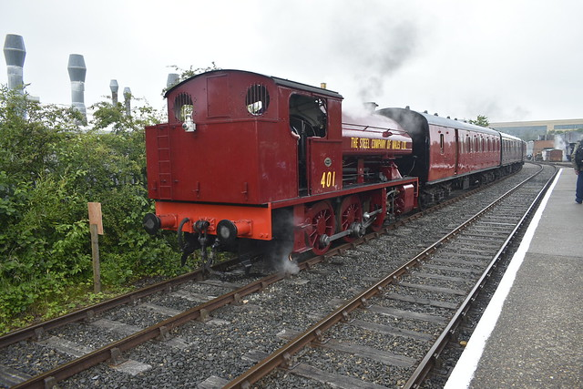 Steel Company Of Wales 401 in the sidings