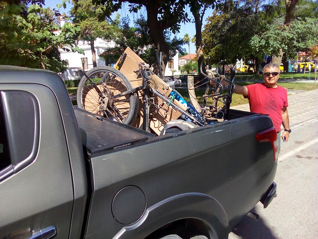 Starting the bicycle tour with a car to Çaltepe by bryandkeith on flickr