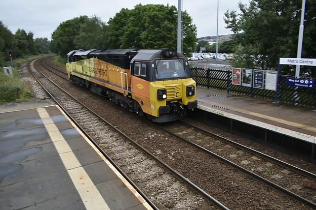 Colas rail 70801 at Metrocentre
