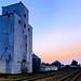 Grain elevator in the evening light
