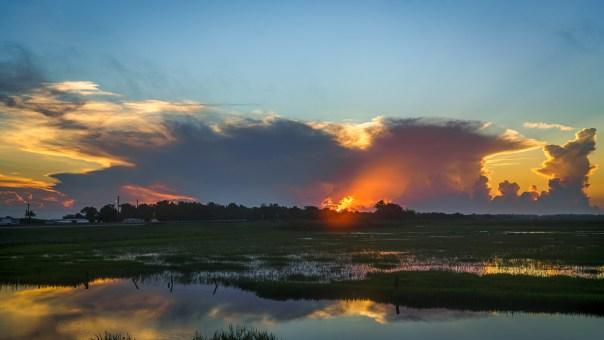 Sunrise through a thunderhead