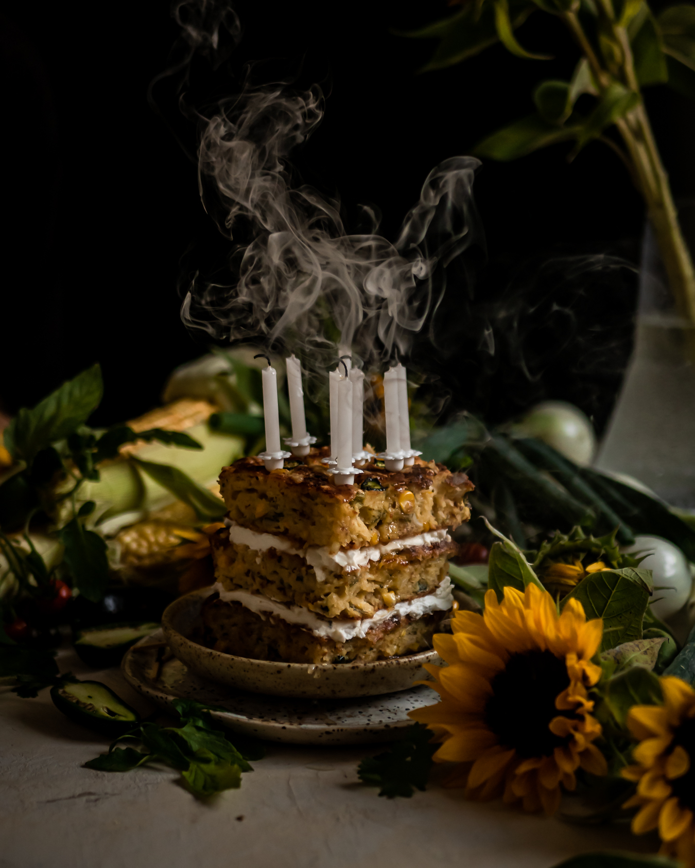 savory cornbread cake