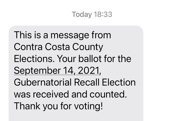 I voted and it was counted