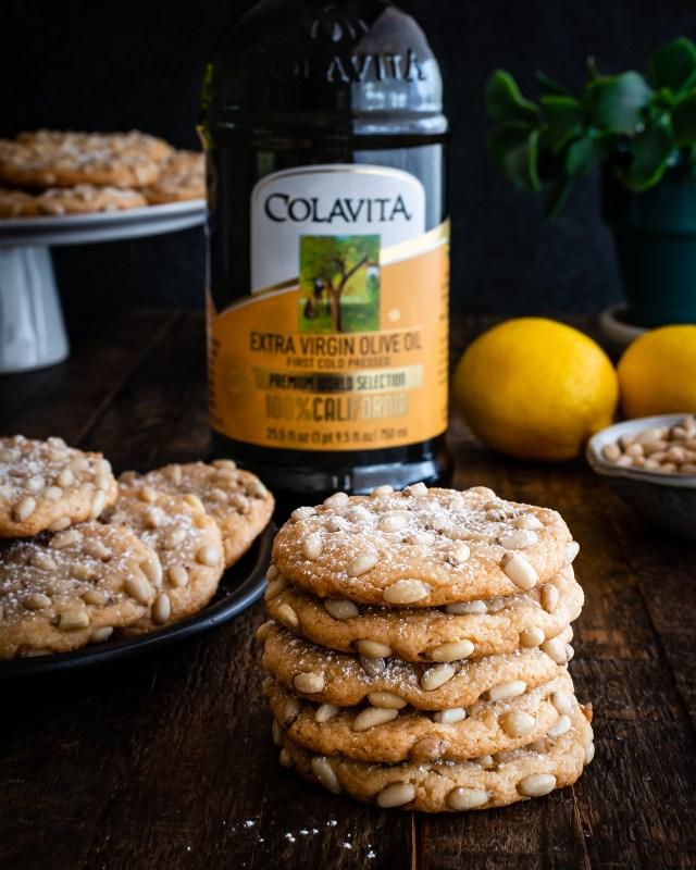 lemon olive oil pignoli cookies