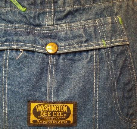 Bib detail, Washington Dee Cee overalls