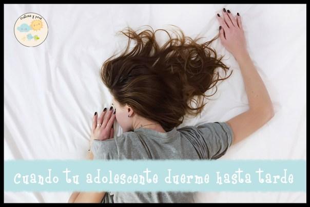 Adolescente duerma hasta tarde