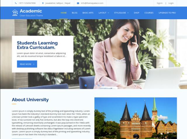 Academic clean education theme