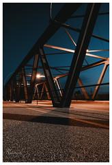 bridge at blue hour