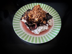 Roast Beetroot Salad on Labneh with Crunchy Bits on Top