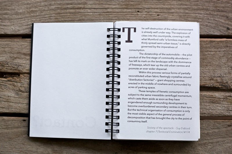 A short piece of background text from page 2 of my newest photobook, Contact?