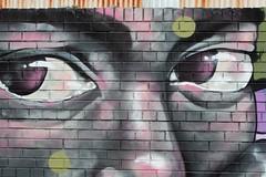 Face of colour graffiti