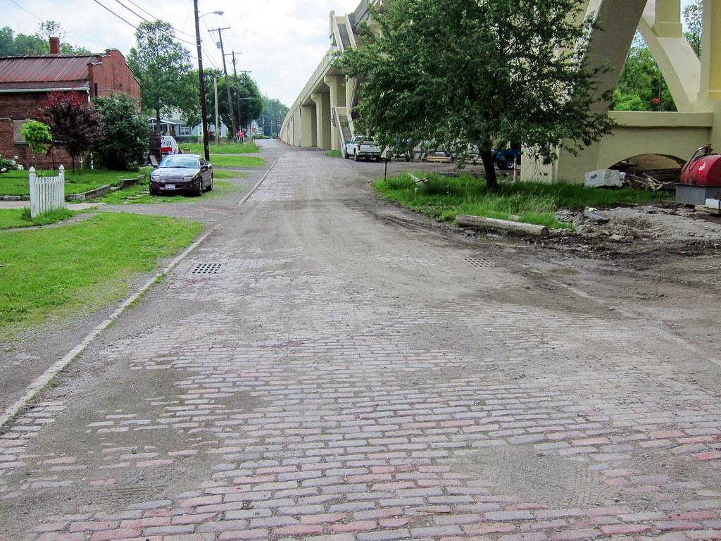 Brick road leading to the Blaine S Bridge
