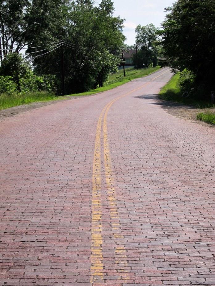 Brick segment of old US 40/NR