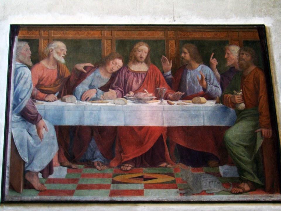 pintura Ultima cena de Bernardino Luini interior Iglesia Santa Maria de los Angeles Lugano Suiza 04