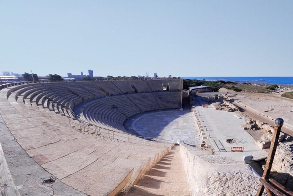 Teatro romano Cesarea Marítima Israel 03