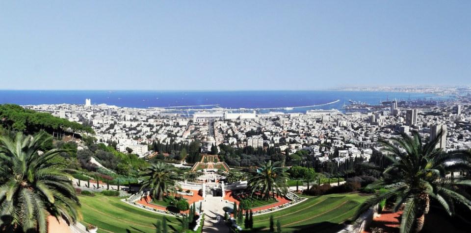 Haifa vista desde el Monte Carmelo Israel 01