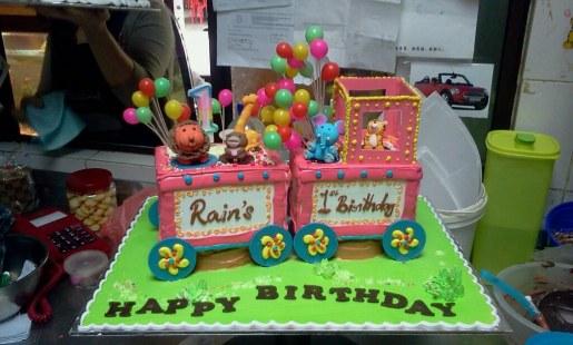 Rain's 1 year old cake