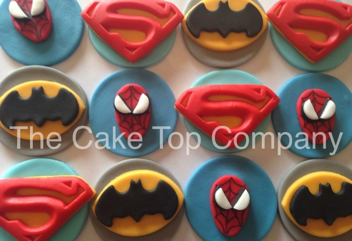 12 Batman Cupcake Toppers Fondant Cake Toppers Cookware Dining Bar