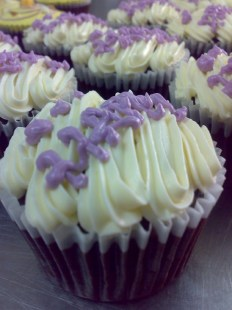 chocolate cupcake with fresh cream topping