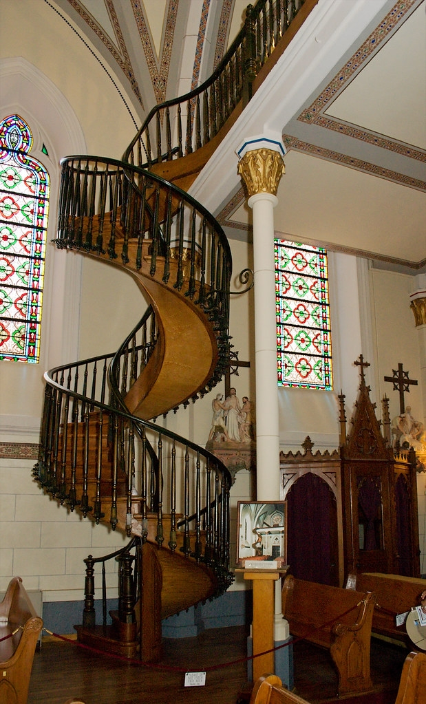 Miraculous Staircase Of Loretto Chapel From The Chapel S L… Flickr | The Staircase Of Loretto Chapel | Original | Light | Weird | Stairway | Magical