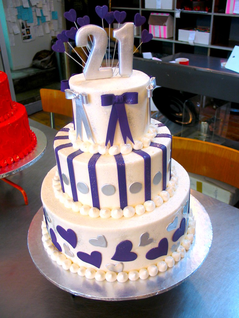 3 Tier Wicked Chocolate 21st Birthday Cake Iced In White B Flickr