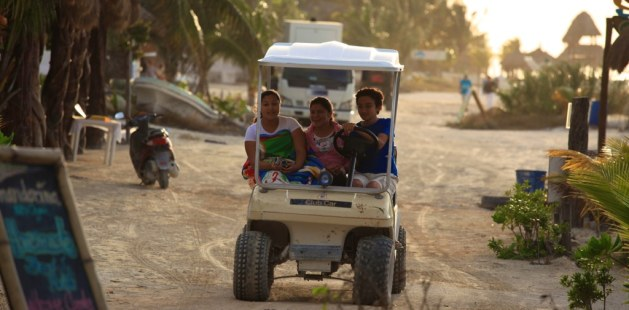 Golf cart on Isla Holbox