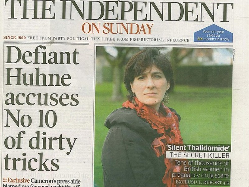 DES Exclusive Report, UK - Independent on Sunday Front Cover
