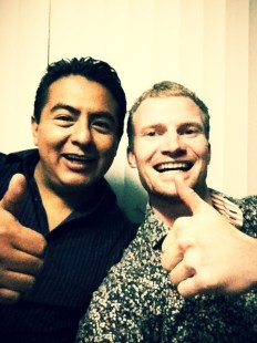 Having fun with crazy but smart Mexican Balta..