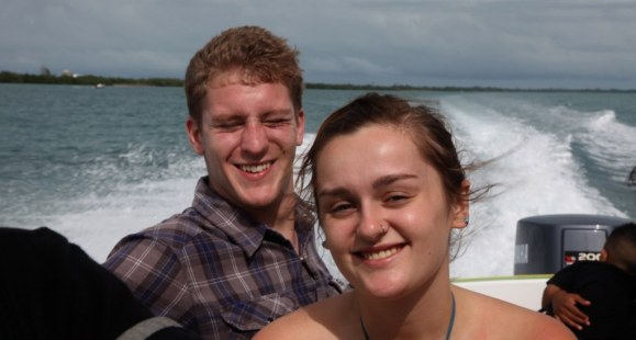 Jack and Jessica on speedboat