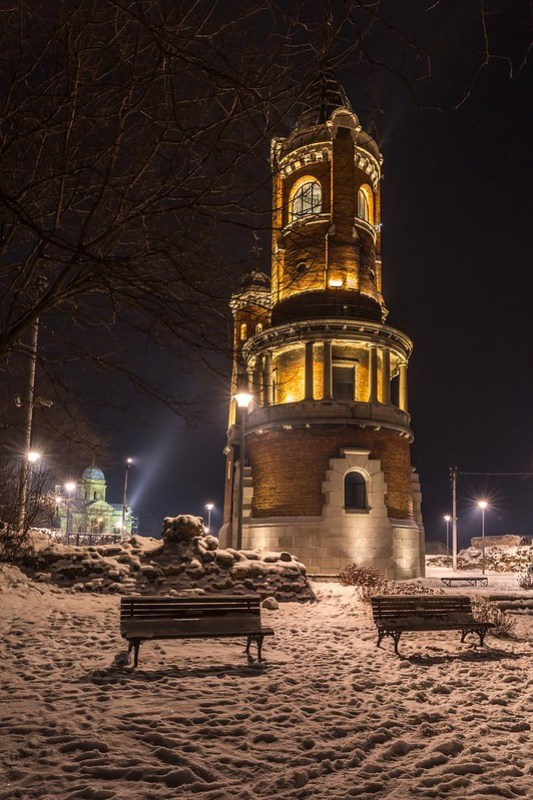 Winter night Millennium Tower